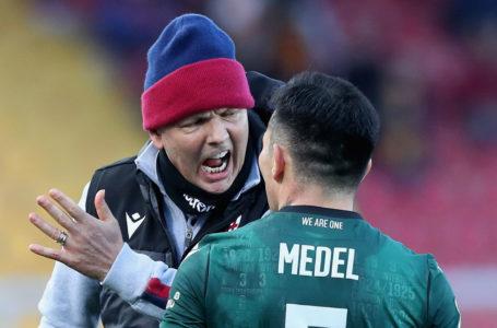 Gary Medel se peleó con su técnico en el Bologna