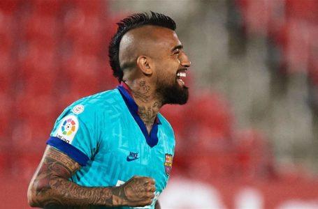 Arturo Vidal marcó un gol en la goleada del Barcelona